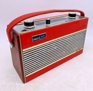Rare Historic Vintage Roberts Radio RIC2 - 2 Band Radio In Red