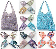 Eco Chic Shopping Foldable Waterproof Pouch Floral Swim Beach Bag Roses Poppies