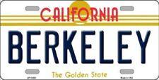 BERKELEY California State Background Metal Novelty License Plate