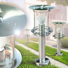 Aussen Leuchten Moderne Sockelleuchte Edelstahl Wege Terasse Lampe Garten Lampen