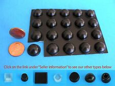 "20 Self Adhesive Rubber Bumper Stops Leg Feet Pad Non Slip .62"" x .31"" USA Made"