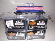 B.L.I. #6124 P.P.G.Columbia Chem. 6000 Gal. Tank Cars  w/4 Diff. Car #s H.O.Ga.