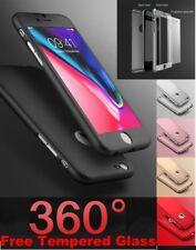 360° Antichoc Hybride Coque Verre Trempé Coque Pour Apple iPhone 10 x 8 7 5 SE