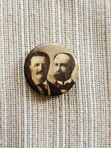 1904 Theodore Roosevelt & Charles Fairbanks Jugate Presidential Pinback Button