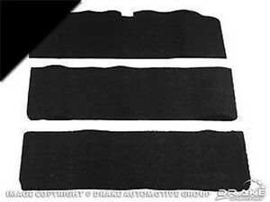 1965-1968 Ford Mustang - FASTBACK - Fold-Down Seat Carpet (Black, 80/20)