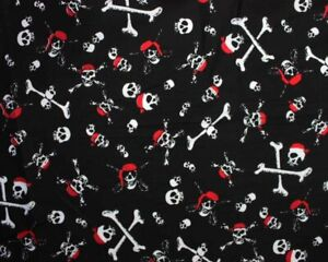 cotton 100% pirate skull and crossbones Jolly Rodger fabric masks teenagers