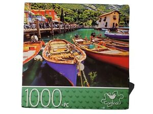 NEW Sealed Lake Garda, Italy Multi-Color Boats 1000 piece Puzzle