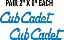PAIR OF CUB CADET BLUE GARDEN TRACTOR DECALS