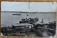 Victorian 1899 RP postcard,Valentines, The Ferry,New Brighton