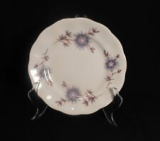 Favolina Poland Bread Butter Plate Scallop Gold Edge Bluish Purple Flowers