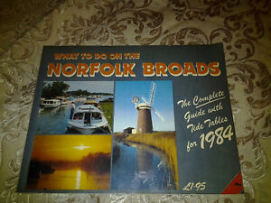 What to Do on the Norfolk Broads Tourists Guide Book Vintage 1984