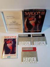 Sargon III 3 Chess Vintage Commodore 64 atari 800 XL game