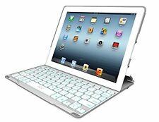 ZAGG PROfolio+ Ultrathin Case with Backlit Bluetooth Keyboard for iPad 2/3/4-Whi