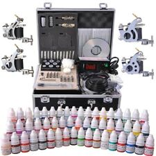 Complete Tattoo Kit in Case 54 Color Ink 4 Machine Gun Set LCD Power Supply