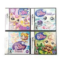 Lot of 4 Nintendo DS Littlest Pet Shop 3 Jungle Beach Winter