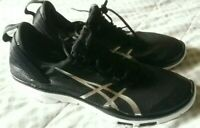 Mens Asics Gel Fit Sana Training Trainers Shoes Size UK 7 Black/White/Silver