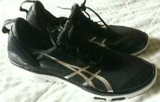 Mens Asics Gel Fit Sana Training Trainers Shoes Size UK 8 .5 Black/White/Silver