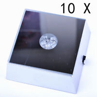 10X New 4 LED Color Square Display Stand Base For Crystal Ball Paperweight