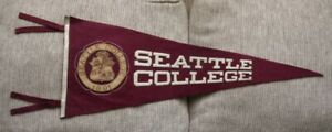 >orig/Rare 1930's/40's Seattle College SEATTLE UNIVERSITY *Pennant with Leather*