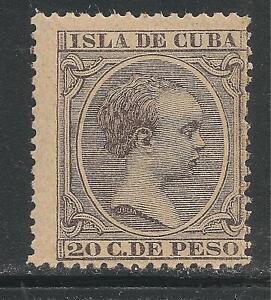 1Cuba #153 (A18) FVF MINT - 1896 20c King Alfonso XIII (Pelon Type)