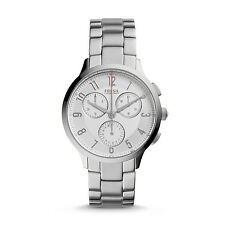 Fossil CH3017 Abilene White Dial Silver Stainless Steel Women's Watch