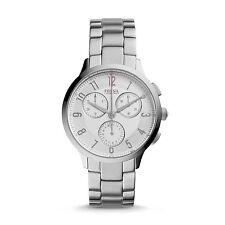Fossil CH3017 Abilene White Dial Silver Stainless Steel Women's Watch