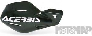 Paramani Acerbis Mx Uniko Moto Cross Enduro Motard Nero + Kit Montaggio