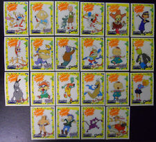 VINTAGE! COMPLETE SET! 1992 Capri Sun Nicktoons #1-22 Decal Card Set-Nickelodeon