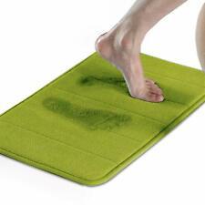 """New PESNME Soft Memory Foam Bath Mat Super Absorbent ~ Green 16"""" x 24"""""""