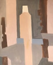 ARMAND ROTTENBERG (1903-2000) LARGE CUBIST ABSTRACT SIGNED OIL PAINTING - SUPERB