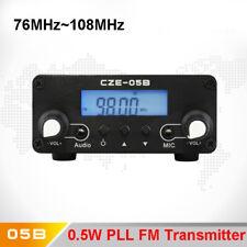 CZE-05B 0.5W Wireless PLL FM Transmitter 76MHz~108MHz Broadcast LCD Antenna Home