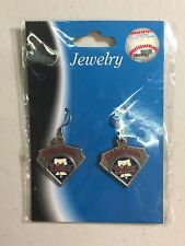 BRAND NEW PHILADELPHIA PHILLIES HOMEPLATE DANGLE EARRINGS FREE SHIPPING
