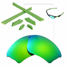 New Walleva Polarized Emerald Lenses And Rubber Kit For Oakley Half Jacket XLJ