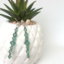 Ella Earrings - Genuine Swarovski Crystals - Erinite- Green