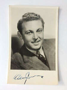 Allan Jones - A Day at the Races - A Night at the Opera - Original HS Autograph