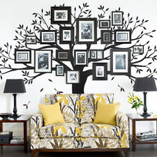 Family Tree Wall Decal - Tree Wall Decal for Picture Frames -Black