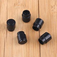 5 pcs Black Plastic Tele selector Switch Tip Guitar Knob Cap Telecaster round