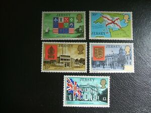Jersey 1976 Scott 142-146 Coat of Arms. Mint Never Hinged Set of 5.