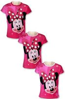 Girls Minnie Mouse T-Shirt Disney Cotton Top Tee OverAll Printed tshirt Age 2-8