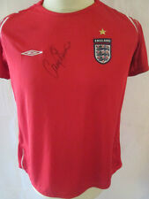 Gary Stevens 2003-2005 England Away Football Shirt with COA 34401
