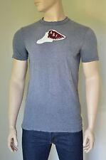 New abercrombie & fitch big slide mountain gris foncé dest tee t-shirt l rrp £ 68