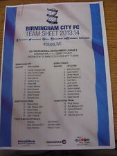 26/03/2014 Birmingham City U21 v Derby County U21 [At Wast Hills] (Colour Single