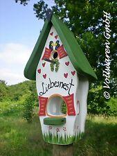 ORIGINAL die VOGELVILLA  Minivilla LIEBESNEST 2in1 Nistkasten Futter Vogelhaus