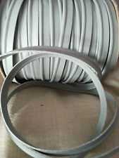 2M Grey Faux Leather Insertion Cord Flanged Rope Piping Upholstery Sewing 8mm