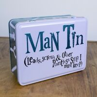 The Bright Side - Man Tin - Metal Storage Tin with Hinged Lid