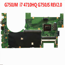For ASUS G750JM Motherboard G750JS REV2.0 With i7-4710HQ CPU 60NB04J0-MB1400