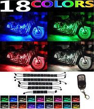 10pc Motorcycle H.D. LED Neon Under Glow Lights Strip Kit For Harley Davidson