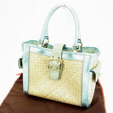 Coach Tote bag Blue Beige Woman Authentic Used L253
