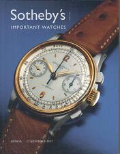 SOTHEBY'S Geneva Piguet LeCoultre Muller Patek Rolex Watch Auction Catalog 2007