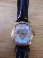 Techno Com. By KC Heart Diamond Bezel Watch